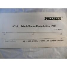 ** Vollmer 8032  2 x Catenary Wire for Vollmer Bridge 7801 N Scale