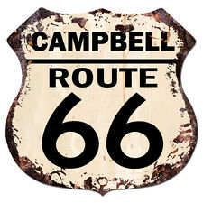 BPHR0043 CAMPBELL ROUTE 66 Shield Rustic Chic Sign  MAN CAVE Funny Decor Gift