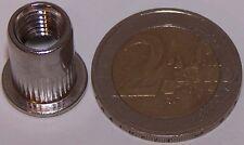 10 M8 Edelstahl A2 Blindnietmuttern Flachkopf 0,5-3,0mm