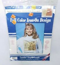VINTAGE 1993 Cat Iron On Color Transfer Twain Funny Quote Kitty Michael's Craft