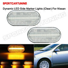 2PC Dynamic Sequential LED Side Marker Signal Light For smart 453 Nissan X-TRAIL
