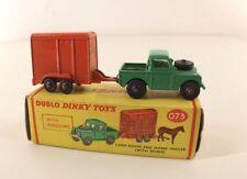Dinky Toys Dublo GB n° 073 Land rover Horse Trailer en boîte