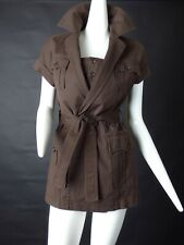 DSQUARED2-Brown Cargo Dress & Bra Top, Size-8