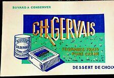 Ancien buvard publicitaire Gervais Fromages frais