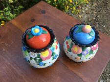 Mary Englebreit 2 jars colorful set, with snug lids
