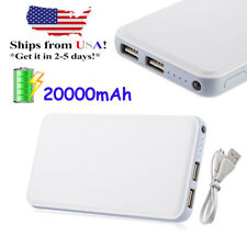 20000mAh Dual USB Portable Phone Charger Power Bank Fr Mobile Cell Phone Samsung