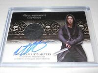 Mortal Instruments Autograph Costume Trading Card Jonathan Rhys Meyers (Skull)
