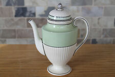 Classy Antique Wedgwood Queens Ware Tri-Color Green Cream Coffee Pot (c.1920s)