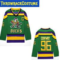 Mighty Ducks Movie Jersey #96 Charlie Conway Hockey Jersey S, M, L, XL,XXL, 3XL