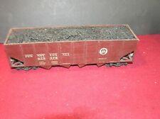 "O Scale 2 Rail All Wood Kit Pennsylvania Hopper Car 10"" Long  (F)"