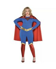 DC Supergirl 1-Piece Women's Adult Plus Size XXL (18/20) Halloween Costume