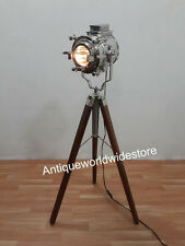 Antico CINEMA Studio Spot Light Rustico Lampada Da Terra Marino Nautico Home Decor