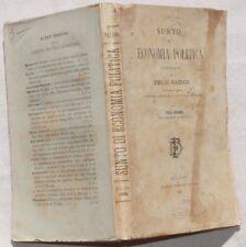 EMILIO NAZZANI SUNTO ECONOMIA POLITICA 1882 COMPLETO