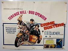 CRIME BUSTERS terence hill / bud spencer ORIGINAL UK QUAD CINEMA poster
