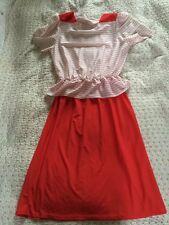 Richard Shops Vintage Peplum Dress-size 10/12