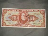 Brazil,10 centavos on 100 cruzeiros P-185a, (1966), UNC   Error