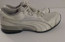 Womens Puma Size 10 Sneakers White Leather Mesh