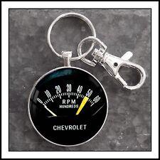 Vintage Chevy Chevrolet Tachometer Photo Keychain