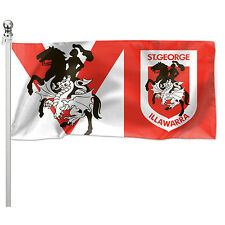 122348 St George Dragons NRL Pole Flag 180cm X 90cm Team Logo