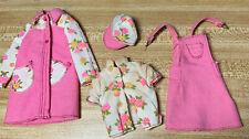 Barbie Vintage 1974 Francie Best Buy #7764 Floral Shirt, Jumper, Hat And Coat.