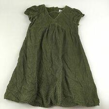 Baby Gap Sz 4 Yrs Cotton Corduroy Dress Olive Green Pink Polka Dot Fall Winter