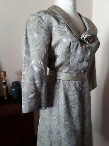 50er original Kleid 36 Einzelstück hochwertig Hepcat Boho 100% Baumwoll- Brokat