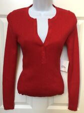 MODA International Red Stretch Sweater NWOT SEXY Rib Knit