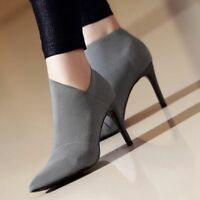Autumn Winter Casual Pointed Toe High Heels Women Basic Shoes Single Outwear New