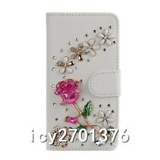 Handmade Magnetic Bling Luxury Diamonds Crystal Leather wallet flip Cover Case 4