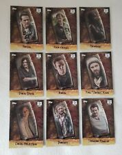 Topps Walking Dead Season 7 Chop Complete Trading Card Chase Set