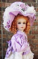 ANTIQUE REPRODUCTION DOLL RARE H MOLD NEW 27 in PATRICIA LOVELESS MOAHIR WIG NEW