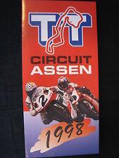 Flyer Jaarprogramma  TT Circuit Assen 1998 (TTC)