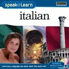 Speak & Learn Italian  Win XP Vista 7 8 10  MAC  NEW   Speak Italian right away