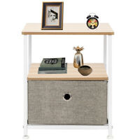Nightstand 1-Drawer Shelf Storage Bedside Furniture Accent End Table Chest Home