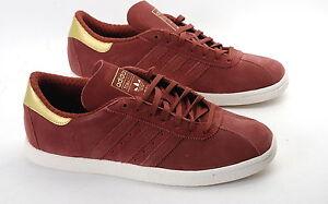 Adidas Originals Tobacco fox brown metallic gold  M17883 mens suede trainers