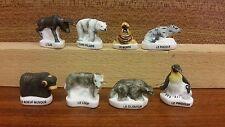 Fèves série complète les animaux du grand froid mat rare lot collection animaux