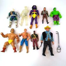 10 Pcs Lot Vintage 90s Action Figures and Accessories Gi Joe Hulk He-Man Cable