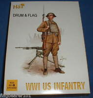 HAT 8112. WW1 US INFANTRY. 80 X 1:72 SCALE PIECES. WWI AMERICANS. AMERICAN