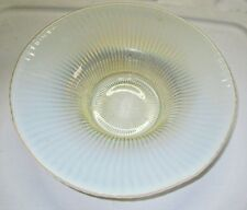Fenton Glass Large Opalescent Smooth Rays Console Serving Bowl Rays Pattern 11""