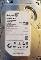Seagate Desktop HDD 2TB HARD DRIVE SATA 6GB/S (ST2000DM001) 7200RPM 64MB FW:CC25