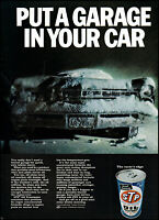 1968 STP Oil car frozen in winter snow & ice vintage photo print ad ads66
