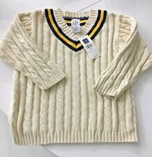 GAP Boys 3 Yrs 3T V Neck Cable Knit Warm Soft Cotton Sweater Baby NWT