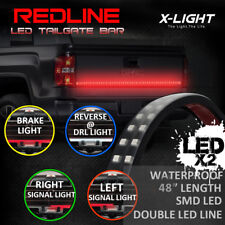 "48"" DOUBLE LED Truck SUV Tailgate Light Bar Strip Red/White Running Stop Signal"