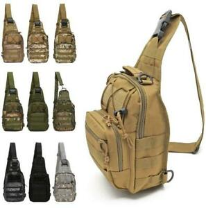 Outdoor Shoulder Tactical Backpack Travel Camping Hiking Trekking Chest Pack Bag