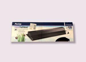 """Deluxe Full Fluorescent Aquarium Light Hood size 30"""" Aqueon/AGA Brand Tank Black"""