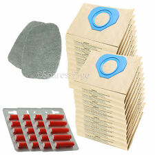 2 Filters + 20 Bags for NILFISK GA70 GS80 GS90 GM80 GM90 GD80 GD90 Vacuum +Fresh