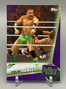 2019 WWE Money In the Bank SP Mojo Rawley 25/25 Purple Parallel 1/1