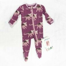 NEW Kickee Pant Premium Footie with Dinosaur Print Zip Up Soft New with tags