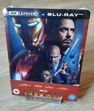 Iron Man 4K/2D Blu-ray Steelbook Zavvi UK Exclusive New Sealed OOP