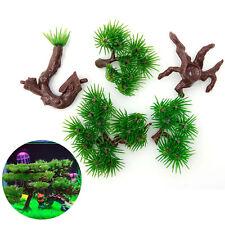 Aquarium Artificial Plants Fish Tank Accessories Plastic Pine Bonsai Decoration